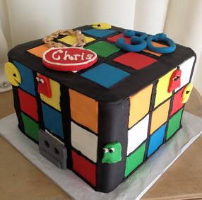 Rubix Cube 80's Themed Cake