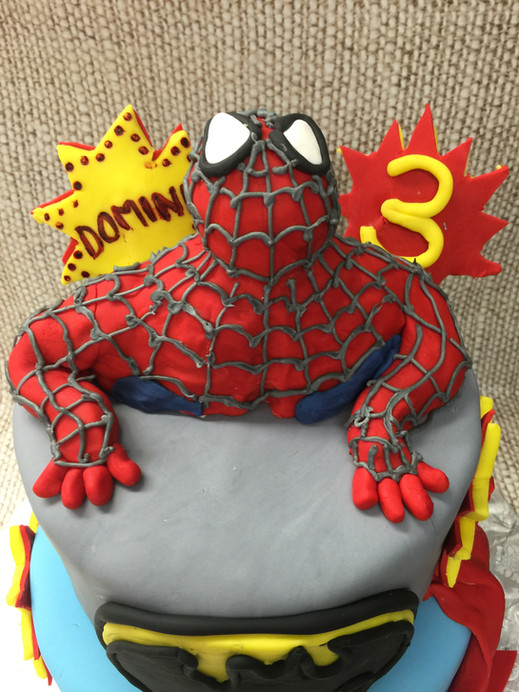 Spiderman 3rd birthday cake