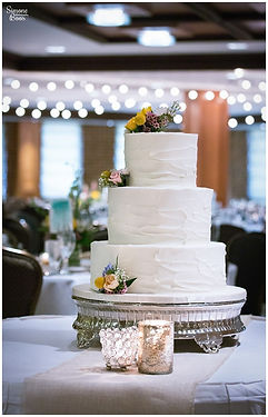 tampa bay buttercream wedding cake