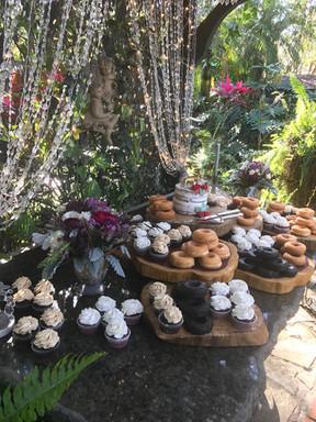 Cupcake & donut wedding dessert bar