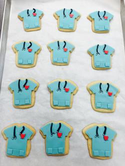 Doctors Scrub Uniform Cookie