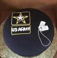US Army grooms cake