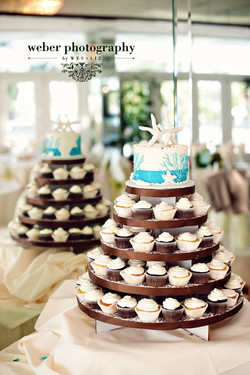 Seashell Wedding Cupcakes