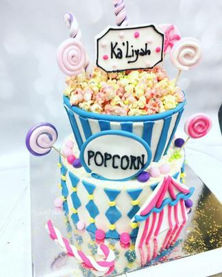 Popcorn Candy Circus Cake