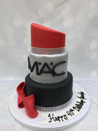 MAC lipstick makeup birthday cake