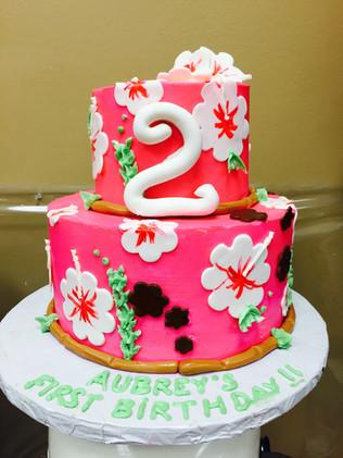 Hawaiian Luau Tropical Birthday Cake