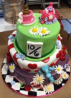 Disney Alice in Wonderland Tea Party Cake