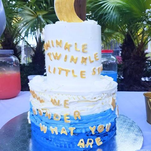 Twinkle Twinkle baby shower cake