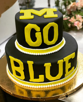Michigan State Go Blue Grooms Cake