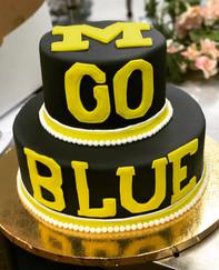 Michigan State Go Blue Grooms Cake
