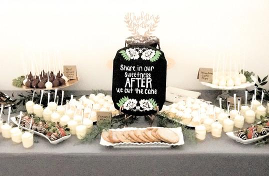 Wedding dessert table