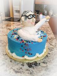 Medical doctor 3-d birthday cake