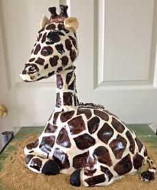 Giraffe 3-d birthday cake