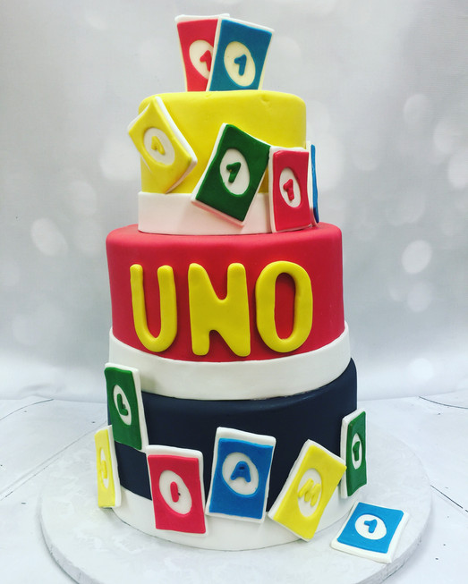 Uno First Birthday Cake