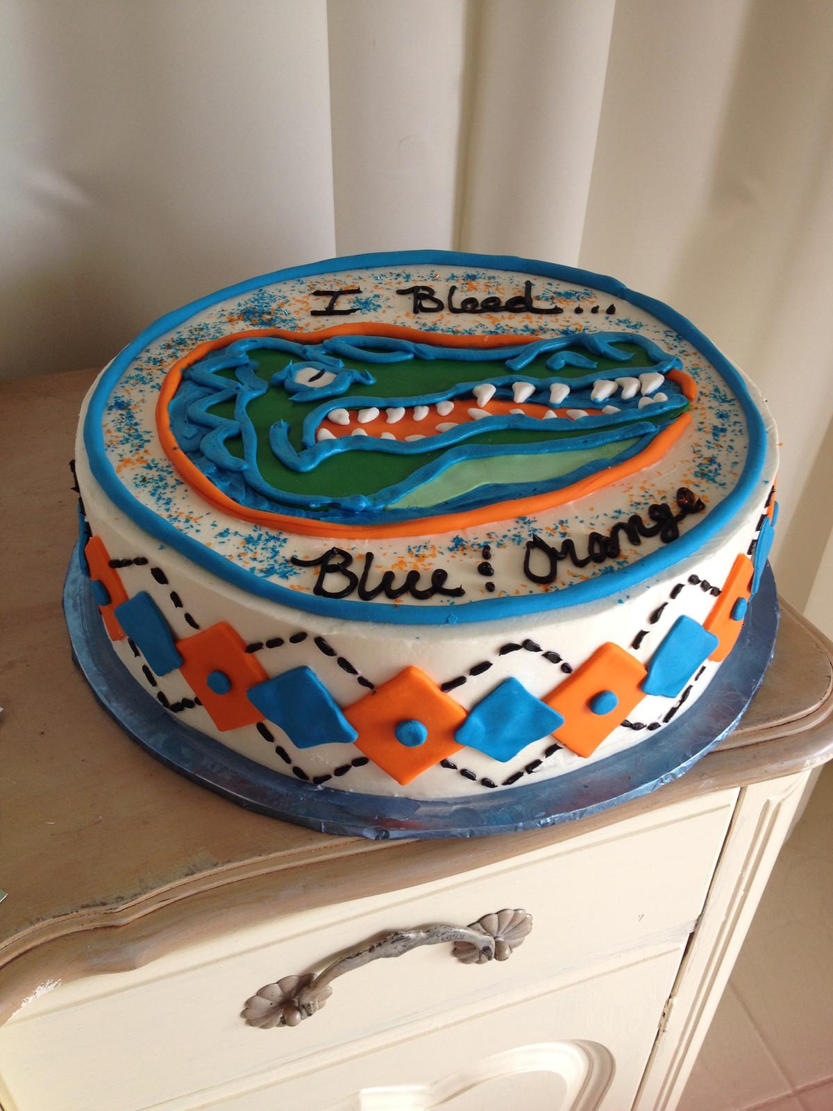 Florida Gator Birthday Cake