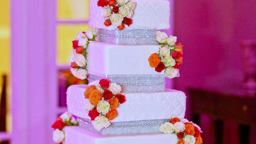 Rose Wedding Cake