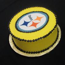Pittsburgh Steelers football grooms cake