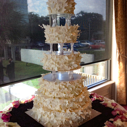 Sugar Flower Wedding Cake