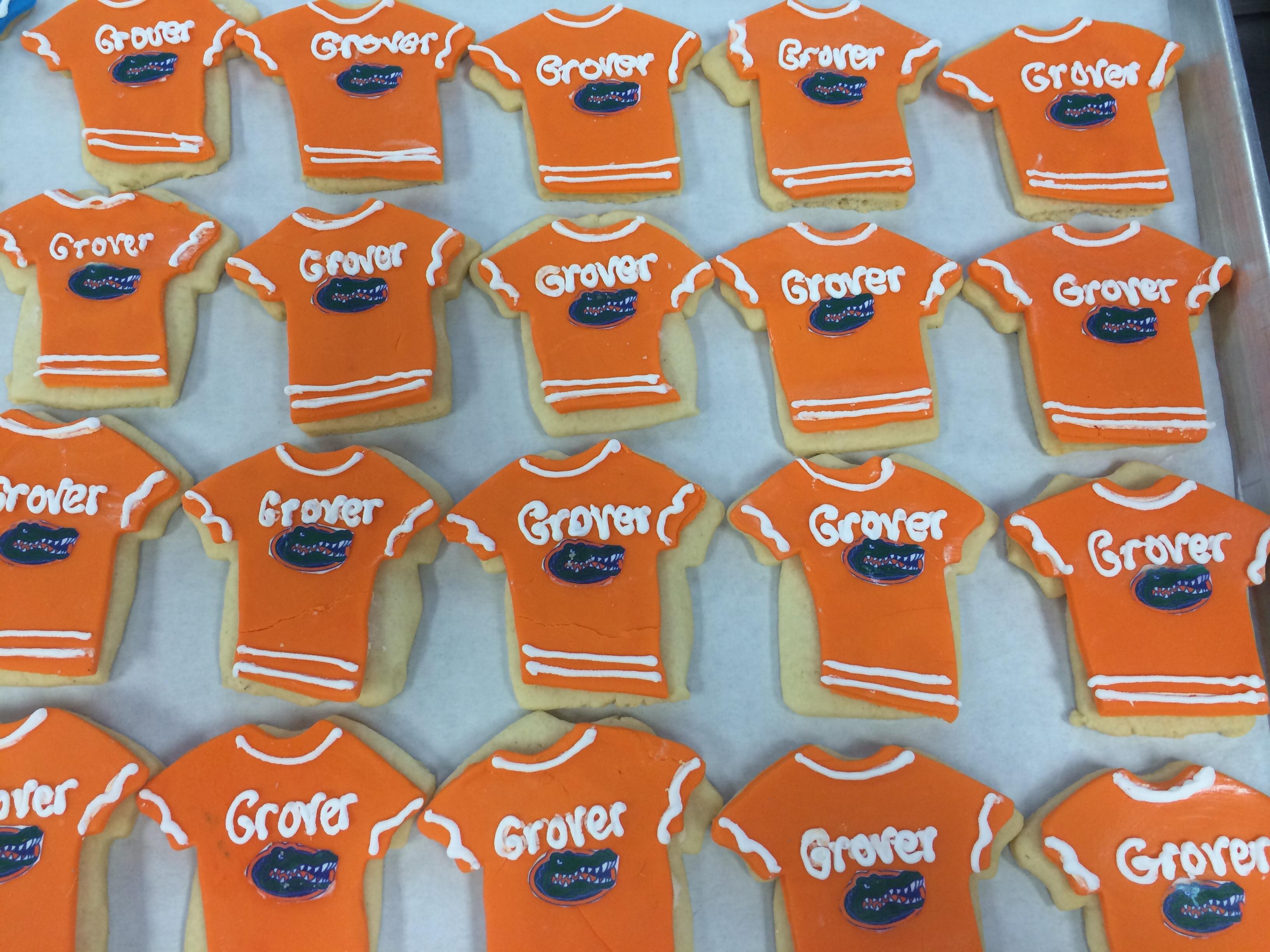 Florida Gators Jersey Cookies