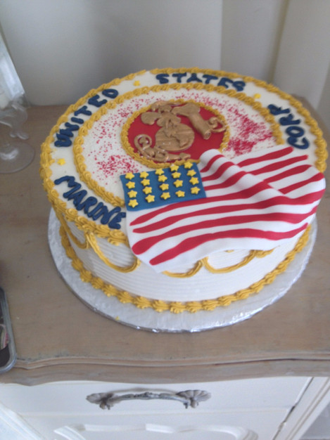 Marine Corp United States birthday cake