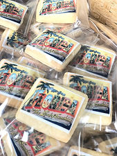 Florida Postcard Wedding Cookie