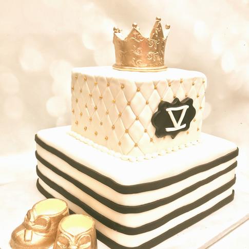 Baby Prince shower cake