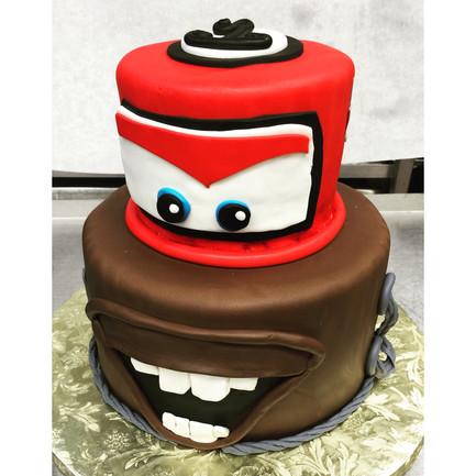 Disney Cars Towmater birthday cake
