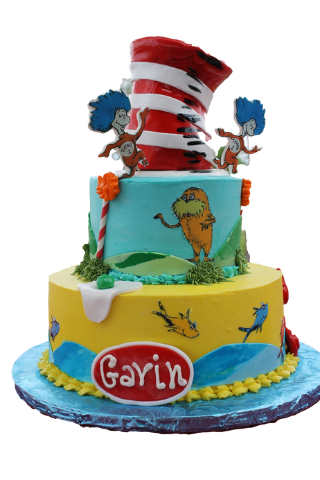 Dr Suess Cat in the Hat birthday cake