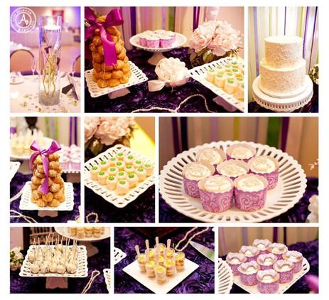 Mini dessert bar wedding table