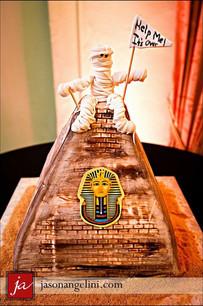 Pyramid Mummy grooms cake