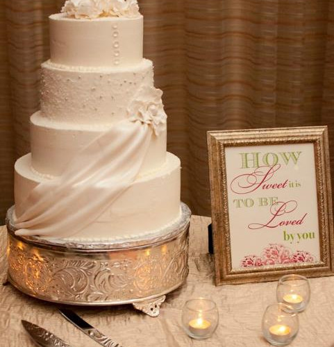 Buttercream Swag Wedding Cake