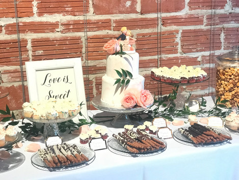 Salt & Sweet Wedding Dessert Table
