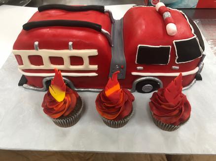 Firetruck Grooms Cake