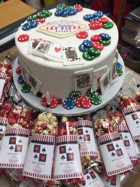 Las Vegas Casino Poker birthday cake