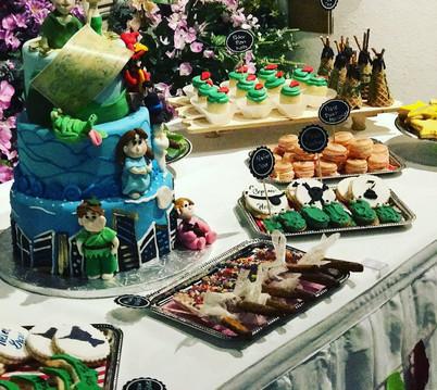 Peter Pan birthday dessert table