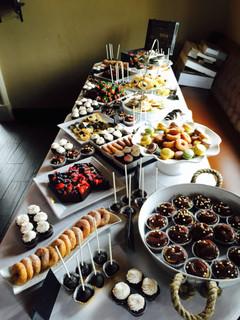 Corporate wedding dessert table