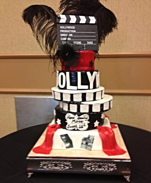 Hollywood Glam Movie Cake