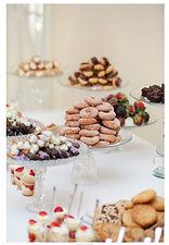 Wedding reception mini dessert tables