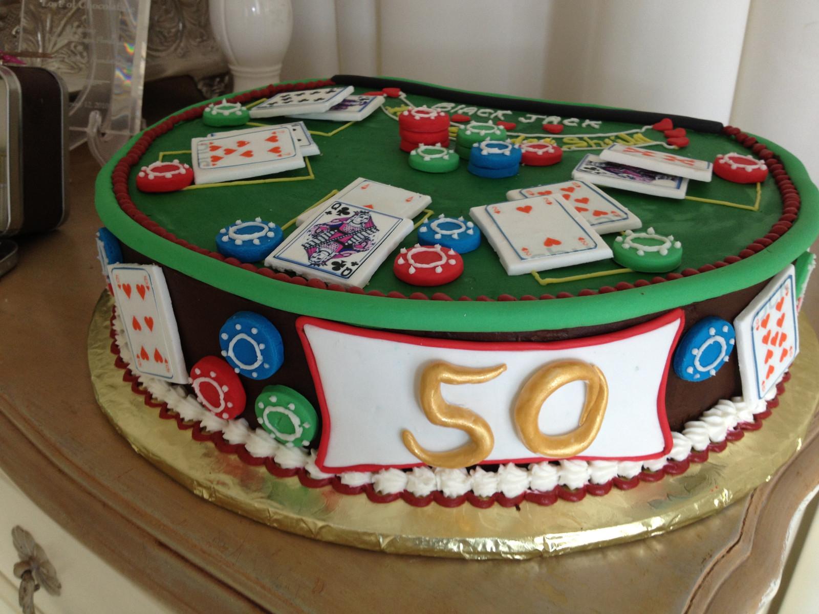 50th Casino Poker Birthday Cake