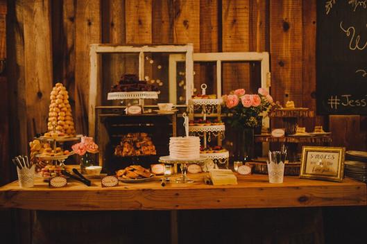 Country Farm wedding dessert bar