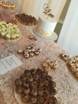 Cupcake wedding dessert table
