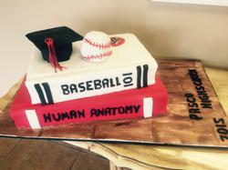 Baseball Graduation Cap Cake