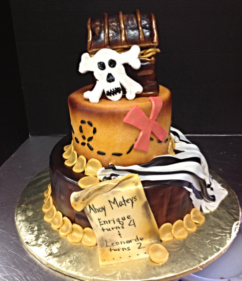 Gasparilla Pirate Themed birthday cakes