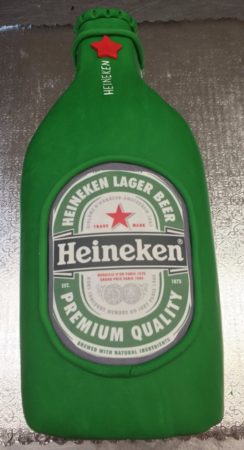 Heineken bottle grooms cake