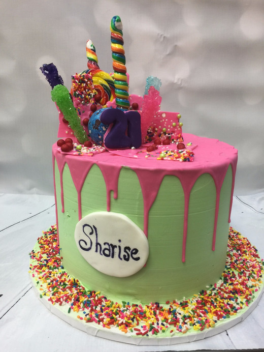 Candy Themed birthday cakes