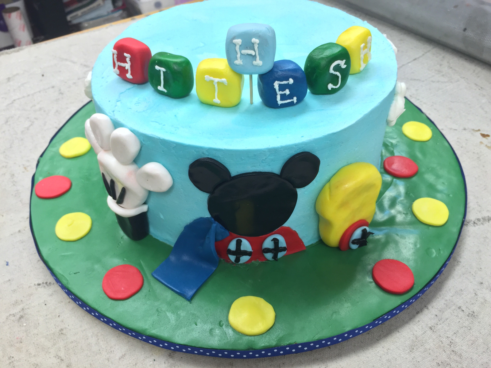 Mickey Mouse Clubhouse Birthday Cake