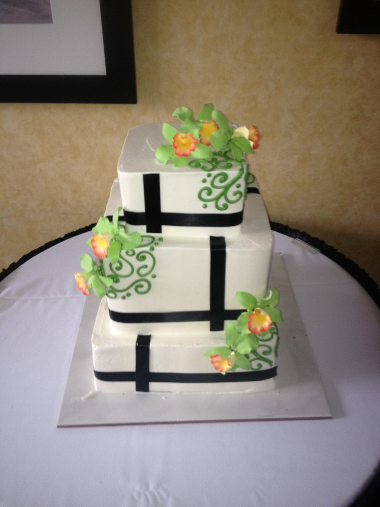 Lime Green and Black Wedding Cake | A Piece of Cake - Wedding Cake ...