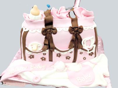 Diaper Bay baby shower cake