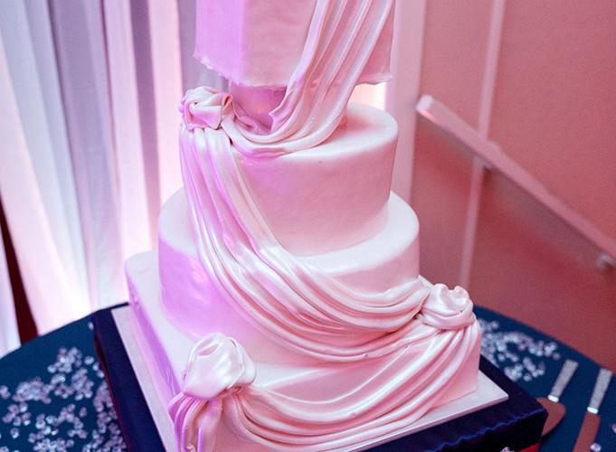 Draped Fondant Wedding Cake