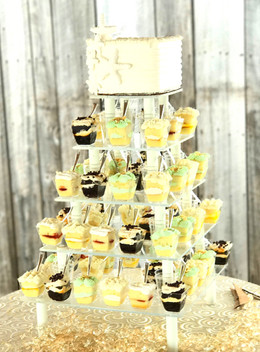 Dessert Shooter Wedding Cake